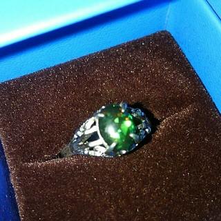 天然石ブラックオパールリング❤ビンテ-ジ❤希少な天然もの❤半額以下でお買特です‼(リング(指輪))
