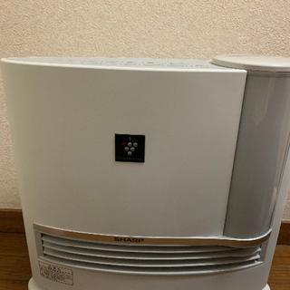 【美品】SHARP シャープ 加湿セラミックファンヒーター HX-D120(ファンヒーター)