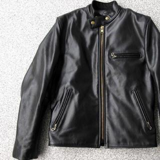 バンソン(VANSON)のVANSON B バンソン  ライダース レザー ジャケット 定価12万円(ライダースジャケット)