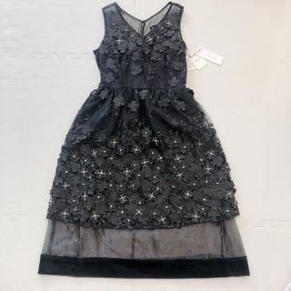リリーブラウン(Lily Brown)のLily Brown L.B Candy Stockフラワーレースビジュードレス(ミディアムドレス)
