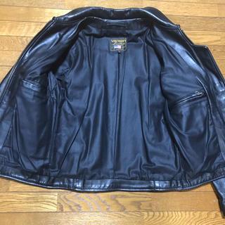 バンソン(VANSON)のVANSON ENF バンソン  ライダース レザー ジャケット 定価12万円(ライダースジャケット)