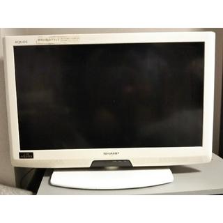 アクオス(AQUOS)の液晶テレビ シャープ AQUOS 26型 ホワイト(テレビ)
