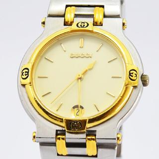 グッチ(Gucci)のグッチ 時計 メンズ クォーツ 9000M SS GP アイボリー 中古(腕時計(デジタル))