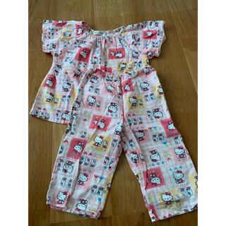 ハローキティ(ハローキティ)の女の子 パジャマ ハローキティ 半袖 90 上下セット(パジャマ)