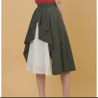 トランテアンソンドゥモード(31 Sons de mode)のバックプリーツデザインスカート(ひざ丈スカート)