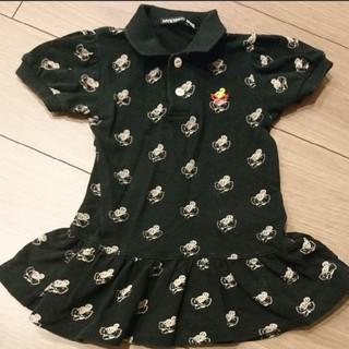 ヒステリックミニ(HYSTERIC MINI)のHYSTERIC MINI ヒスミニ ポロシャツ ワンピース 総柄 トップス(ワンピース)