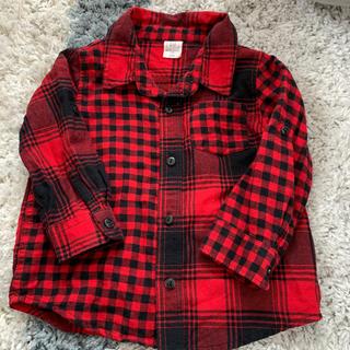 ベビーギャップ(babyGAP)の赤チェックシャツ(シャツ/カットソー)