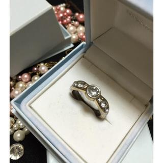 指輪 存在感ストーンホワイト(リング(指輪))