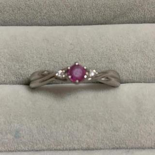 ジュエリーマキ(ジュエリーマキ)のリング ルビー ダイヤモンド pt850 (リング(指輪))