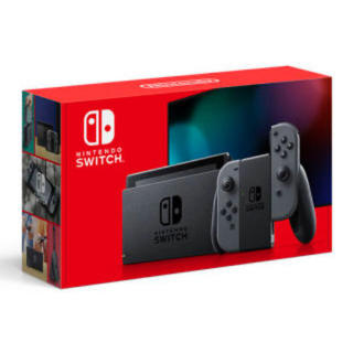 ニンテンドースイッチ(Nintendo Switch)の任天堂 Switch 本体グレー 新型(家庭用ゲーム機本体)