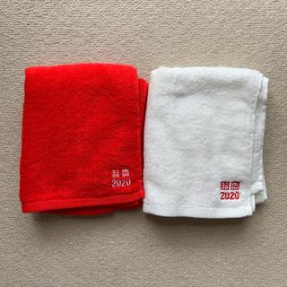 ユニクロ(UNIQLO)のユニクロ 紅白タオル(タオル/バス用品)