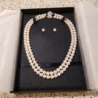 ミツコシ(三越)の本真珠ネックレス 3点セット(ネックレス)