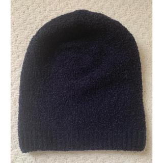 ムジルシリョウヒン(MUJI (無印良品))のワッチ ネイビー 無印良品(ニット帽/ビーニー)
