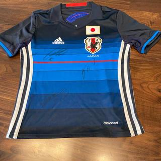 アディダス(adidas)のadidas Tシャツ 日本代表ユニホーム サイン入り 130cm(スポーツ選手)