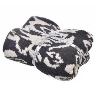 カシウエア(kashwere)の新品 カシウェア ダマスクブランケット Kash were ダークグレー×マルチ(毛布)