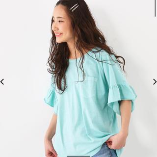 ロデオクラウンズワイドボウル(RODEO CROWNS WIDE BOWL)のピグメント フリル ポケット(Tシャツ(半袖/袖なし))