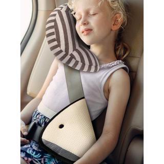 チャイルドシート用 枕 シートベルトサポーター セット (自動車用チャイルドシートクッション)
