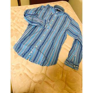 エトロ(ETRO)の新品時5万超え 美品 エトロ ETRO ブルー系マルチストライプドレスシャツ(シャツ)