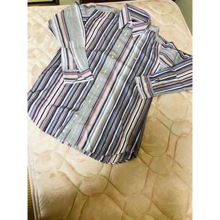 エトロ(ETRO)の美品  エトロ ETRO パープル系マルチストライプドレスシャツ (シャツ)