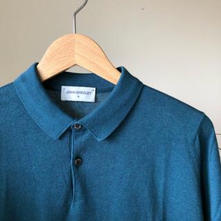 ジョンスメドレー(JOHN SMEDLEY)のジョンスメドレー ニット ポロシャツ M(ポロシャツ)