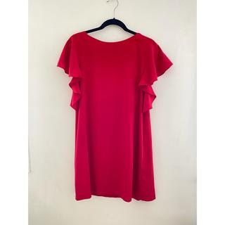 ザラ(ZARA)のザラ レッドワンピース 赤ドレス(ミディアムドレス)