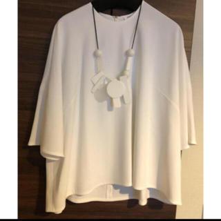 エンフォルド(ENFOLD)のUSED美品 ENFOLD ネックレス ホワイト(ネックレス)