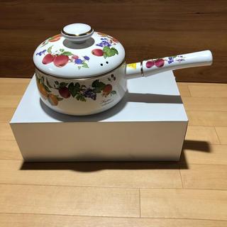 フジホーロー(富士ホーロー)のフレータス 片手ナベ 18cm(2.1L)(鍋/フライパン)