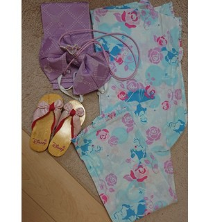ディズニー(Disney)のDisney princess シンデレラ 浴衣セット 120(甚平/浴衣)