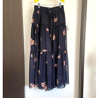 ドロシーズ(DRWCYS)の美品 DRWCYS 花柄スカート見えガウチョパンツ(カジュアルパンツ)