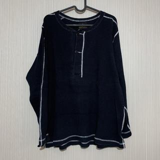 アルファインダストリーズ(ALPHA INDUSTRIES)のアルファインダクトリーズ ワッフル サーマル シャツ ブラック メンズ(Tシャツ/カットソー(七分/長袖))
