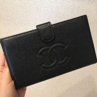 シャネル(CHANEL)のシャネル正規美品キャビアスキン財布(財布)