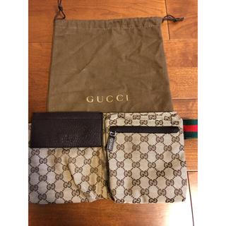 グッチ(Gucci)のGUCCI ウエストポーチ(保管袋付)(ウエストポーチ)