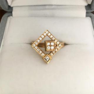 ウォルサム(Waltham)のWALTHAM ウォルサム ダイヤモンド リング K18YG 4.9g(リング(指輪))