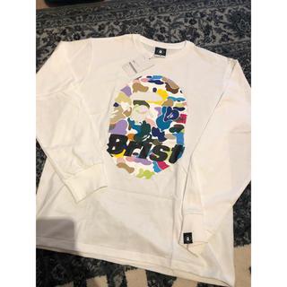 エフシーアールビー(F.C.R.B.)の新品 タグ付き BAPE x F.C.R.B. L/S APE HEAD TEE(Tシャツ/カットソー(七分/長袖))