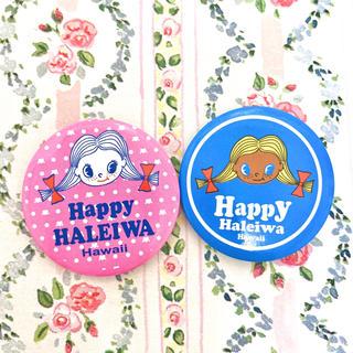 ハッピーハレイワ Happy HALEIWA 缶バッジ ハワイ バッジ(キャラクターグッズ)