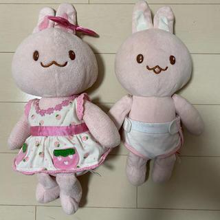 マザー(mother)のうさもも、うさみみ2体セット ぬいぐるみ 人形(ぬいぐるみ)