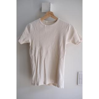 デミルクスビームス(Demi-Luxe BEAMS)のDemi-Luxe BEAMS / クルーネック テレコプルオーバー ホワイト(Tシャツ(半袖/袖なし))