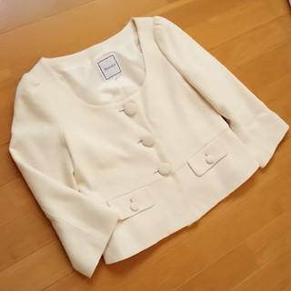 アナトリエ(anatelier)のAnatelier ジャケット ラメ パフ袖 size38(ノーカラージャケット)