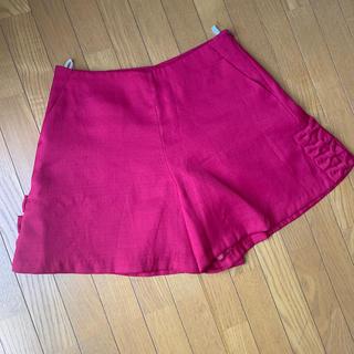 クチュールブローチ(Couture Brooch)の春パンツ リボン ピンク(ショートパンツ)