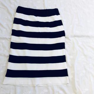 エルフォーブル(ELFORBR)のELFORBR ボーダースカート(ひざ丈スカート)