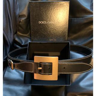 ドルチェアンドガッバーナ(DOLCE&GABBANA)の美品ドルチェアンドガッバーナ デザインベルト 95 検LEON(ベルト)