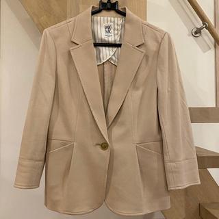 ミッシェルクラン(MICHEL KLEIN)のミッシェルクラン セットアップ スーツ ベージュ 美品(スーツ)