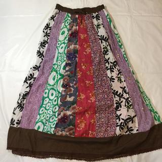 マライカ(MALAIKA)のインド製の涼しげロングスカート【MAL AIKA】(ロングスカート)