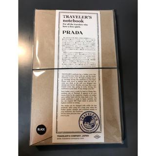 プラダ(PRADA)のトラベラーズノート プラダコラボ レギュラーサイズ ブラック PRADA(その他)