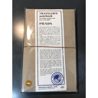 プラダ(PRADA)のトラベラーズノート プラダコラボ レギュラーサイズ キャメル PRADA(その他)