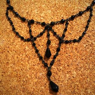 アニエスベー(agnes b.)の【最終価格】アニエスベー  ネックレス   チョーカー  黒(ネックレス)