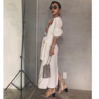 アメリヴィンテージ(Ameri VINTAGE)の新品タグ付 MANY WAY DOCKING SHIRT DRESS(ロングワンピース/マキシワンピース)