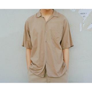 コモリ(COMOLI)の<COMOLI>コモリ ベタシャン オープンカラー シャツ KHAKI サイズ2(シャツ)