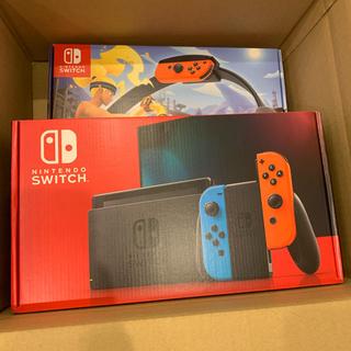 ニンテンドースイッチ(Nintendo Switch)のNintendo Switch 本体 ネオン 新モデル リングフィット セット(家庭用ゲーム機本体)
