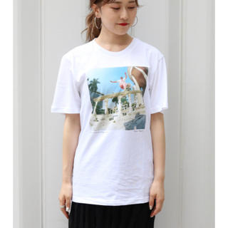 カプリシューレマージュ(CAPRICIEUX LE'MAGE)のadidas PHOTO Tシャツ  adidas×カプリシューレマージュ(Tシャツ(半袖/袖なし))